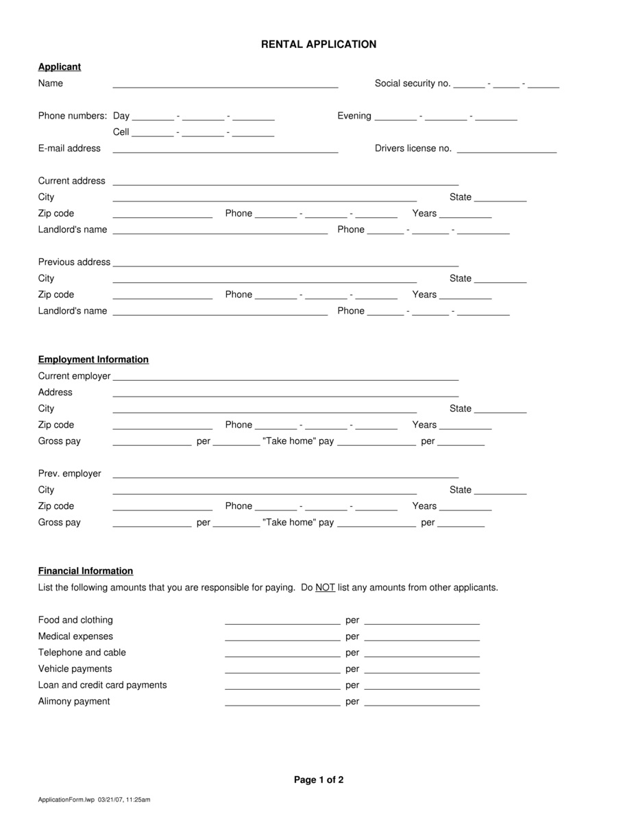 Doc640819 Application Form Download Schengen Visa Application – Application Form